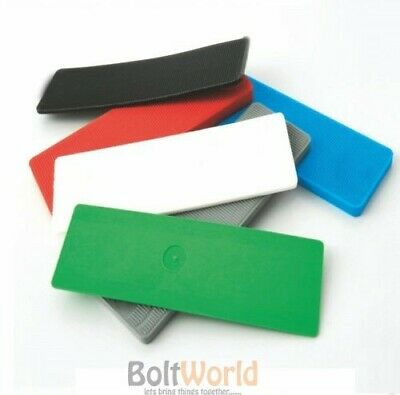 PLASTIC WINDOW & GLAZING SPACERS FLOORING WATERPROOF FLAT PACKERS 1mm to 6mm