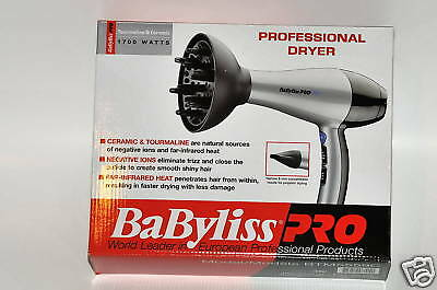 Hair Dryer Babyliss PRO with diffuser and nozzle