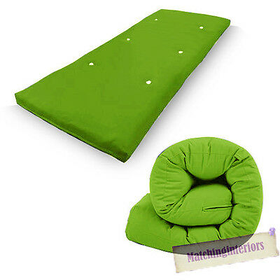 Lime Budget Single Futon Sofabed Replacement Roll Up Folding Sleeping Mattress