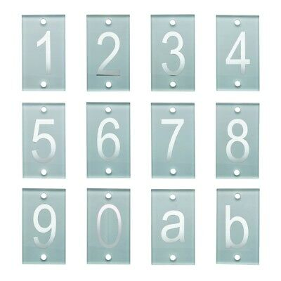 Milkcan Mailbox House Numeral Numbers 140mm Frosted Glass Stud Number Wall Range