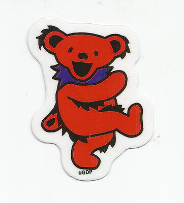 "(#92) MINI RED Grateful Dead DANCING BEAR 2-1/2"" sticker (AF704) ©GDP"