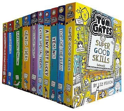 Tom Gates 8 Books Set Collection By Liz Pichon Extra Special Treats NEW