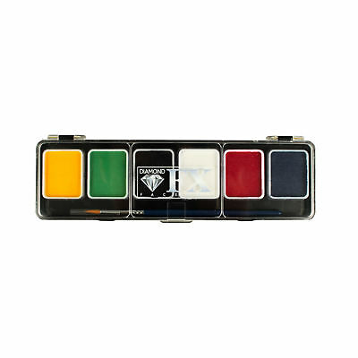 Diamond FX Small 6 Colour Face Painting Palette - Essential!