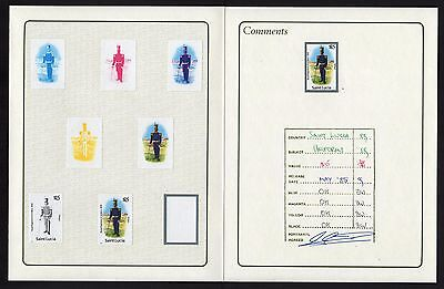 St Lucia 1985 Uniforms SG $15 Colour Proof - Scarce - limited avail