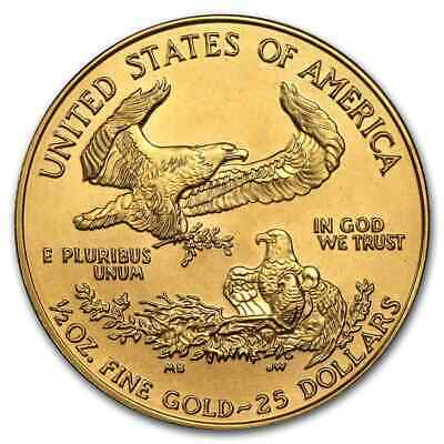 1/2 oz Gold American Eagle BU (Random Year) - SKU #2