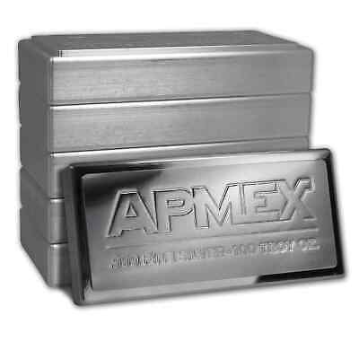 100 oz Silver Bar - APMEX (Stackable) - SKU #50645