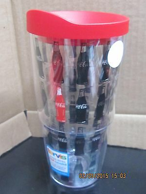 Coca-Cola Tervis 24 oz Tumbler w/Lid Red Coke Bottle in middle - FREE SHIPPING