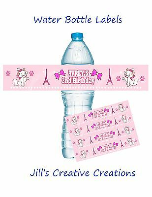 Aristocats Water Bottle Labels, Aristocats, Birthday, Water Bottle Labels