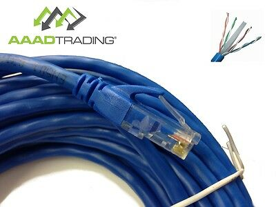 Cat 6 Ethernet Network LAN Cable Patch Lead 10/100/1000 26AWG Copper not CCA