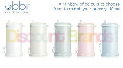 New Ubbi Nappy Diaper Pail Bin Eco Friendly - 5 Colours To Choose From ! Save!