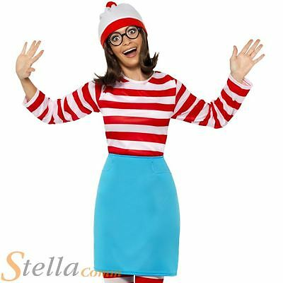 Ladies Where's Wenda Costume Wally Bok Day Fancy Dress Outfit