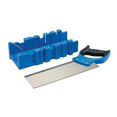 Silverline Mitre Box & Saw 300 x 90mm Skirting Woodwork Cutting Angles 335464