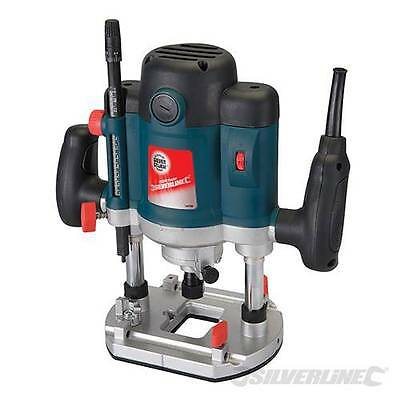 1/2 Heavy Duty Plunge Router 2050W Electric Collets Bushes Carry Case Warranty