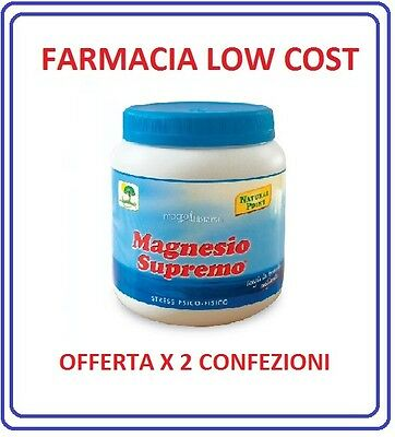 Magnesio Supremo, Natural Point, 2 confezioni, 600g ENERGETICI