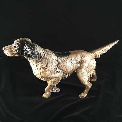 Stunning! Antique Hubley Cast Iron Hunting Gun Decoy Pointer Retr Dog Door Stop!