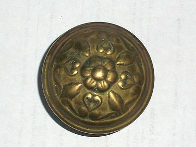 Antique Victorian Door Knob Centered Flower Design
