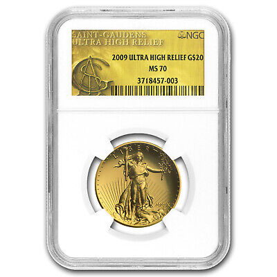 2009 Ultra High Relief Double Eagle Gold Coin MS-70 NGC Gold Label - SKU #55666