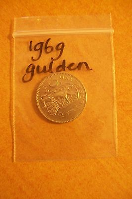 1 GULDEN JULIANA 1969