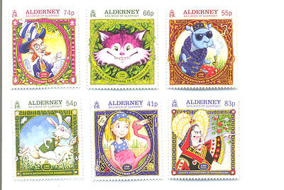 Alderney-Alice in Wonderland set of 6 mnh (Feb 2015)
