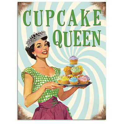 BAKING QUEEN CAKE CUPCAKES BAKE OFF MARY BERRY KITCHEN METAL PLAQUE SIGN 1109