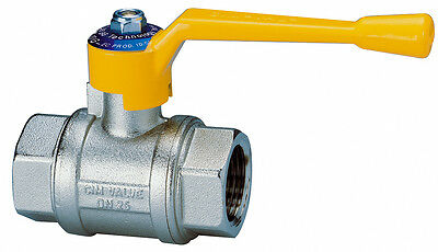 "Cimberio Gas Ball Valve 3/4"" CIM 10G - 3/4 Lever Handle Type T10 Female x Female"