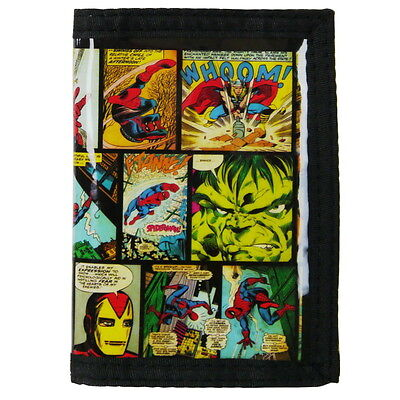 NEW OFFICIAL Marvel Comics Boys / Kids Classic / Retro Tri-Fold Coin Wallet