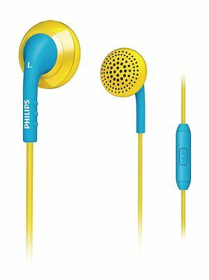 Genuine Philips Universal In-Ear Headset 3.5 mm stereo connection Yellow/Blue