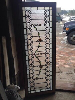 "Sg 53 Antique Stainglass Window Fancy Swag With Jewels 20.5"" X 56.5"""