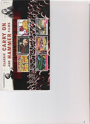 2008 Royal Mail Presentation Pack Classic Carry On & Hammer Films