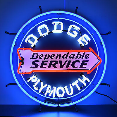 Neon sign  Chrysler Plymouth Dodge Brothers 100th anniversary Hemi Mopar lamp