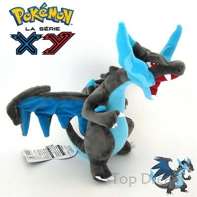 "Cute Genuine Pokemon Charizard Mega X 30cm/12"" Soft Plush Stuffed Doll Toy Teddy"