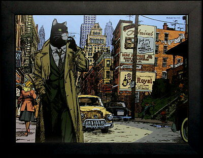 "Affiche encadrée - Juanjo Guarnido - ""Blacksad, New York"""
