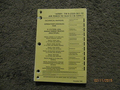 Military Book for M44A2 Series Truck, M35A2 and more, -10, Operator's, Used