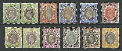 Southern Nigeria   1904-9 Evii Selection Of 12 Inc Some Shades,dies Ect C.£214