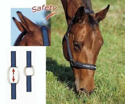 Eskadron Safety Halter with Safety ring top quality English horse Headcollar