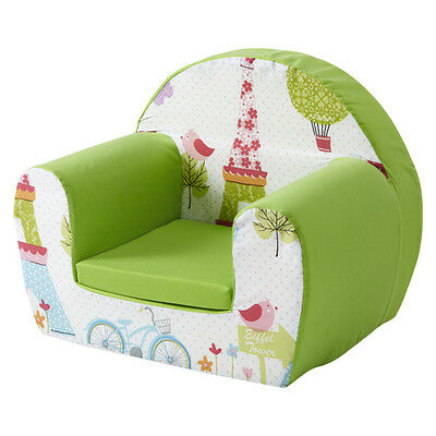 Paris Lime Childrens Kids Comfy Foam Chair Toddlers Armchair Seat Girls
