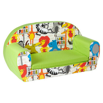 Born Free Lime Kids Children's Double Foam Sofa Toddlers Seat Nursery Chair