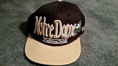 Vintage 90's New Era Notre Dame Fighting Irish Snapback Hat Cap NCAA Football