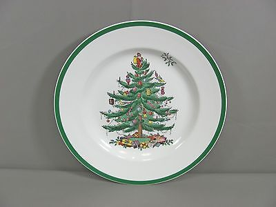 Spode China CHRISTMAS TREE-GREEN TRIM Dinner Plate(s) Multi Avail Very Good