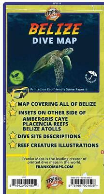 Belize Dive Map Waterproof Diving & Snorkeling Guide by Franko Maps