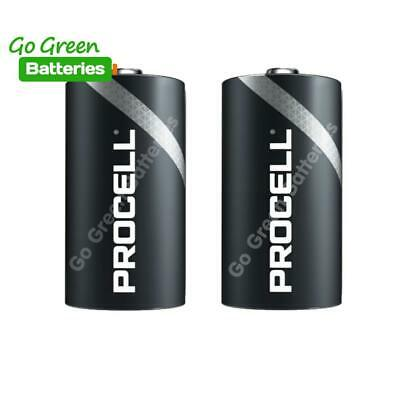 2 x Duracell D Size Industrial Alkaline Batteries LR20 Cell MN1300 Mono Procell