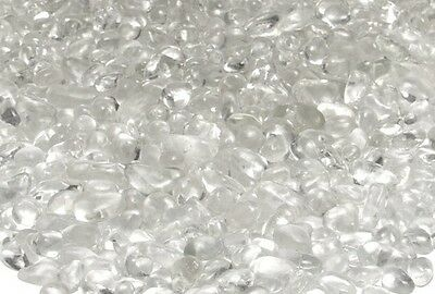 "10 LB Clear Glass Pebbles 1/4"" for Firepits, Fire Place Water Feature"