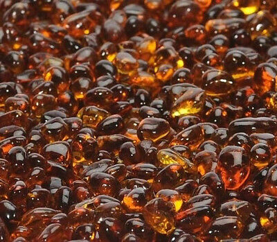"""40 LB Coffee Brown Glass Pebbles 1/4"""" for Fire Pits, Fire Place Water Feature"""