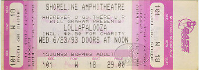 LOLLAPALOOZA 1993 Unused Concert Ticket Primus Dinosaur Jr. Alice in Chains