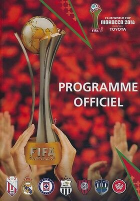 * 2014 Fifa Club World Cup Tournament (Morocco) Programme (French Language) *