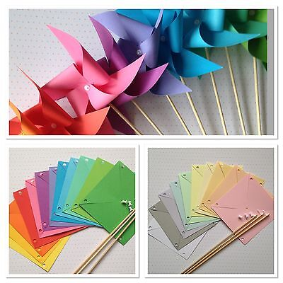 Paper pinwheel kit handmade wedding  party bags table decorations craft DIY