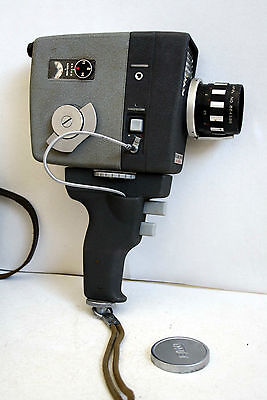 Cinepresa Elmo 8-S Zoom Auto Eye Japan Super 8 Camera Vintage Anni 70 Space Age