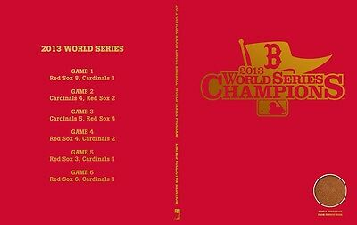 BOSTON RED SOX WORLD SERIES LIMITED EDITION HARD BACK SOUVENIR BOOK SAVE $40.00!