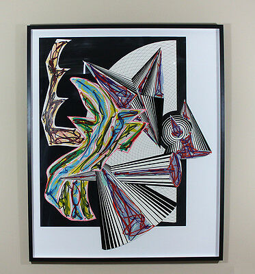 FRANK STELLA 'THEN CAME DEATH AND TOOK THE BUTCHER' 1984, SIGNED, FRAMED, MINT!