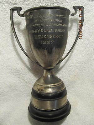 1927 Trophy Reliance Life Insurance Co. Pittsburgh to Eli G. Huber Evansville IN